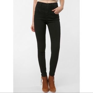 Black BDG high rise jeans
